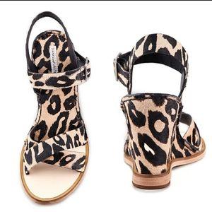 Diane Von Furstenberg Leopard Dagga Wedge Sandal